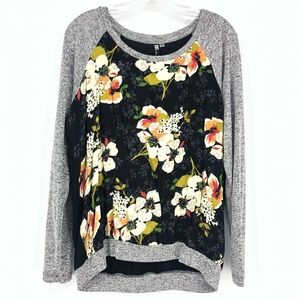Kut From The Kloth Floral Sweater Lightweight Top